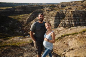 with my hubby in drumheller at 19 weeks pregnant